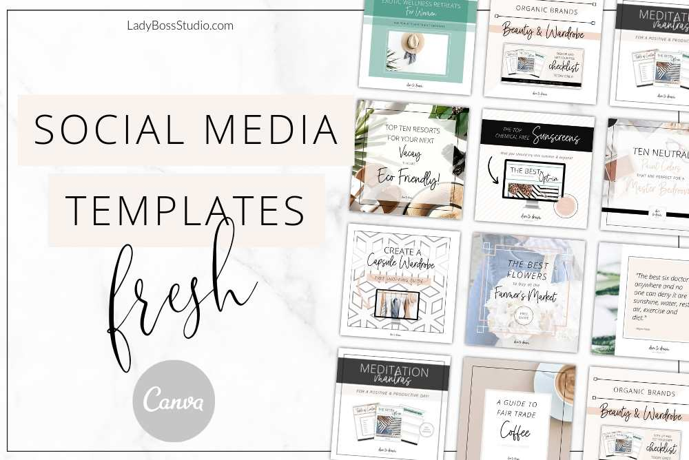 Fresh Brand Templates Bundle for Canva