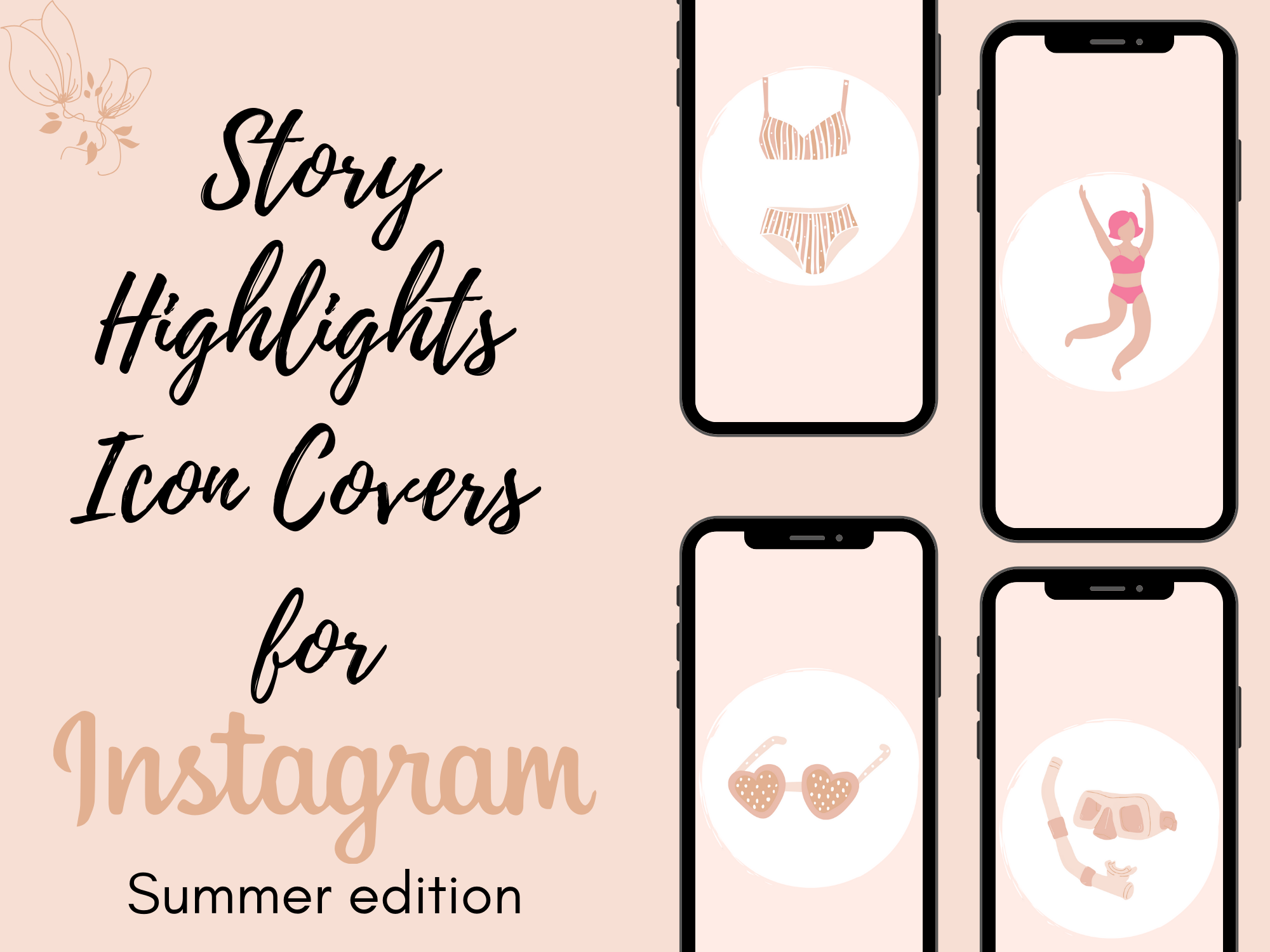 instagram story highlights icon covers summer edition lady boss biz boutique instagram story highlights icon covers summer edition